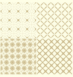 4 shaped ornament seamless pattern vector image