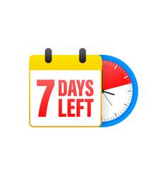 7 days left calendar clock icon symbol vector