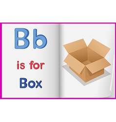 A picture of a box in a book vector image