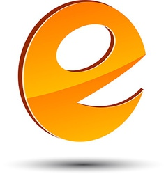 Abstract E symbol vector