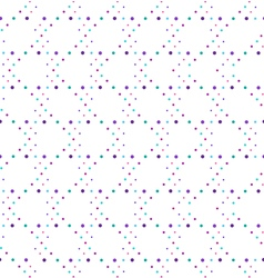 Abstract geometric polka dot seamless pattern vector image
