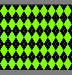 argyle plaid in ufo green colors vector image