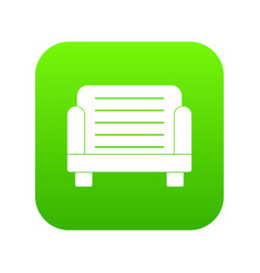 armchair icon digital green vector image