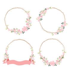 beautiful pink sakura or cheery blossom flower vector image