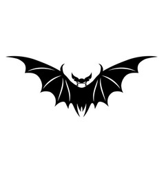 black bat sign in a medical mask vector image