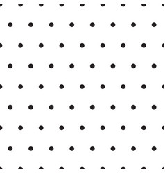 black polka dots on white background vector image