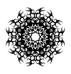 Black tribal tattoo 0001 vector