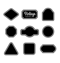 black vintage labels set frames for design vector image