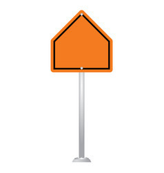 blank road sign board isolated on white background vector image
