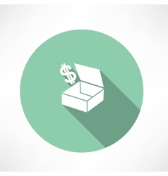 box with dollars vector image