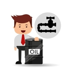 businessman oil industry oil pipe line vector image