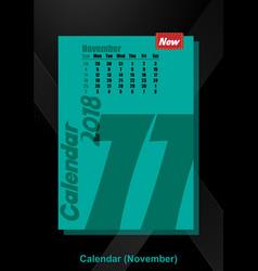 calendar ui november image vector image