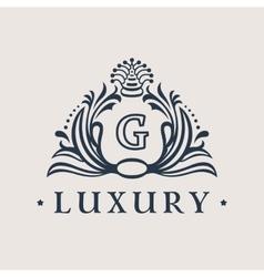 Calligraphic flourishes Luxury Logo template vector image