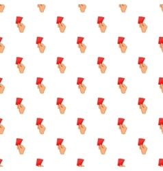 Card football pattern cartoon style vector