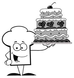 Cartoon chefs hat with food vector