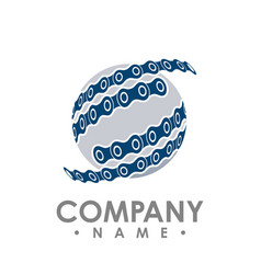 Chain circle industrial design logo icon vector