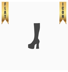 chaussure woman flat icon vector image