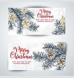 christmas sketch hand drawn vector image