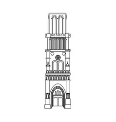 Church building icon image vector