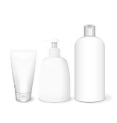 cosmetics white templates vector image