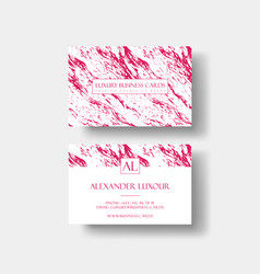 creative modern fashioner business card with vector image