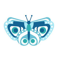 cute blue butterfly vector image