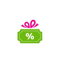discount gift logo icon design vector image