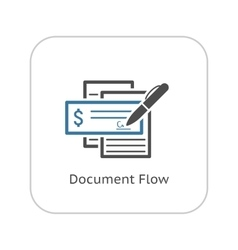 Document Flow Icon Flat Design vector