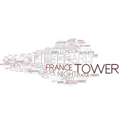 Eiffel word cloud concept vector