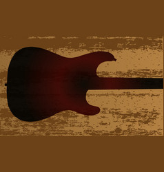 electric guitar brand vector image