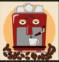Espresso coffee machine vector