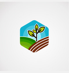 farm box logo icon element and template for vector image