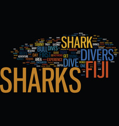 Fiji sharks text background word cloud concept vector