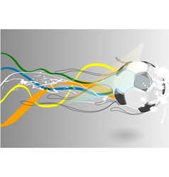 football backgroud with abstract line vector image