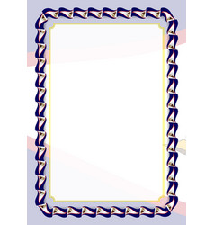 Frame and border of ribbon with american samoa vector