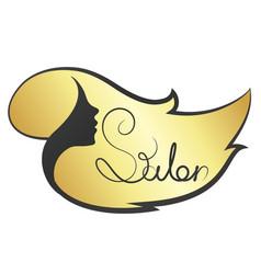 Girl beauty salon symbol vector