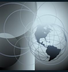 globe earth abstract global circles vector image