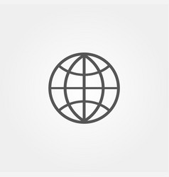 Globe icon flat style grey color vector