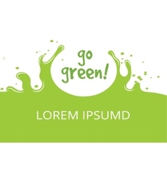 Go green organic natural template vector image