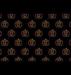 golden pumpkin on black background vector image