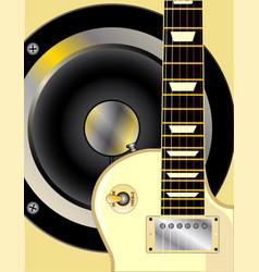 Guitar and speaker vector
