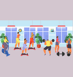 Gym for fitness and workout exercise vector