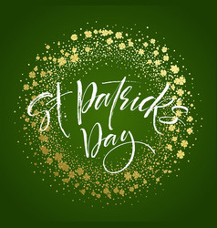 happy saint patricks day greeting poster with vector image vector image