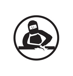 Ironworker icon vector