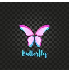 Isolated pink butterfly logo Insects vector image