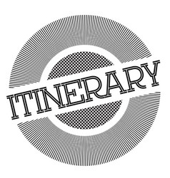 Itinerary typographic stamp vector