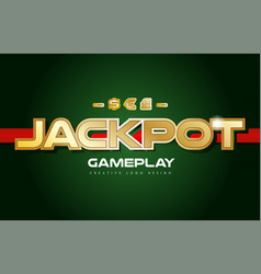 Jackpot word text logo banner postcard design vector