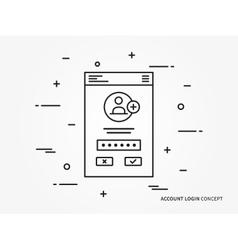 Login concept vector image