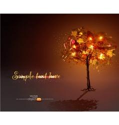 luminous hand-painted tree vector image