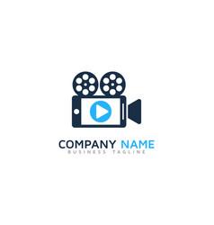 mobile video logo icon design vector image